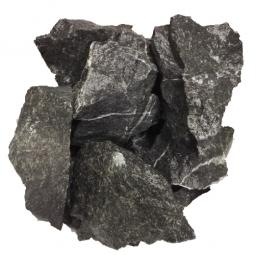 Камень для бани ХакасИнтерСервис Пироксенит «Черный принц» колотый средний ЗЖ, 10кг