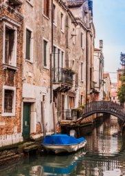 Декор Береза-керамика Азалия Венеция 5 синий 25x35