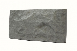 Облицовочная плитка Сoncrete «Колотый камень» Вибролитая 264х127 Серая
