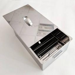 Коптильня Огненный камень с 1 решеткой 150х300х400 сталь 1 мм