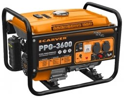 Генератор бензиновый Carver PPG- 3600