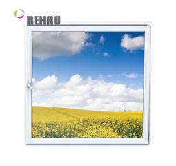 Окно ПВХ Rehau 600х600 мм одностворчатое О 2 стеклопакет