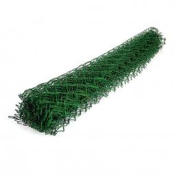 Сетка рабица ПВХ d=2,6 мм, ячейка 50x50 мм, 1500x1000 мм, зеленая