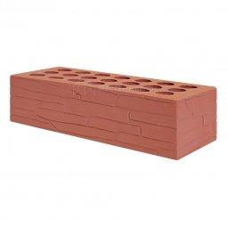 Кирпич лицевой керамический Красный «Плитняк» пустотелый одинарный