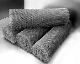 Сетка рабица d=1,4 мм, ячейка 40x40 мм, 1,5х10,0 м оцинкованная