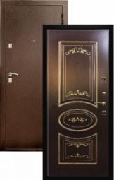 Металлическая дверь Патрисия, Йошкар-Ола, 860*2050, патина золото орех