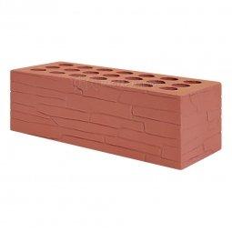 Кирпич лицевой керамический Красный «Плитняк» пустотелый утолщенный