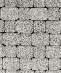 Тротуарная плитка Классико Стоунмикс 115х172х60 Бело-черная