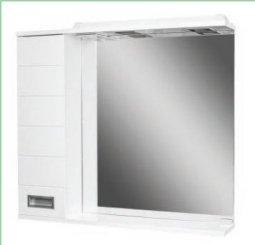 Шкаф-зеркало Домино Cube 75 левый с электрикой DC5008HZ